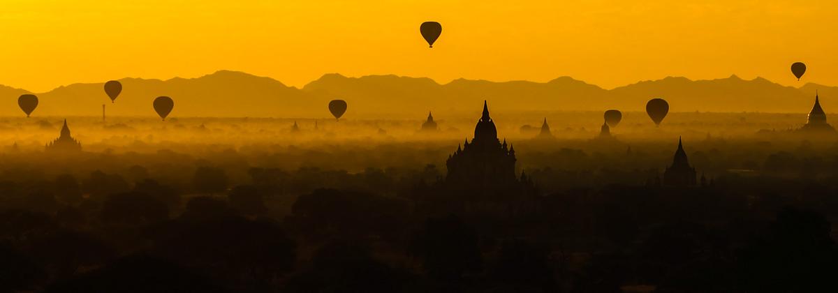 Alba a Bagan, Birmania