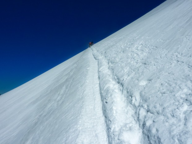 Breithorn Occidentale: via normale dal Plateau Rosà