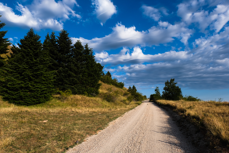 Cammino nelle Terre Mutate viaggio in centro Italia a piedi strada bianca