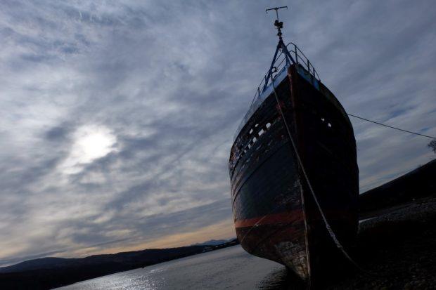 Fotografia Scozia nave spiaggia