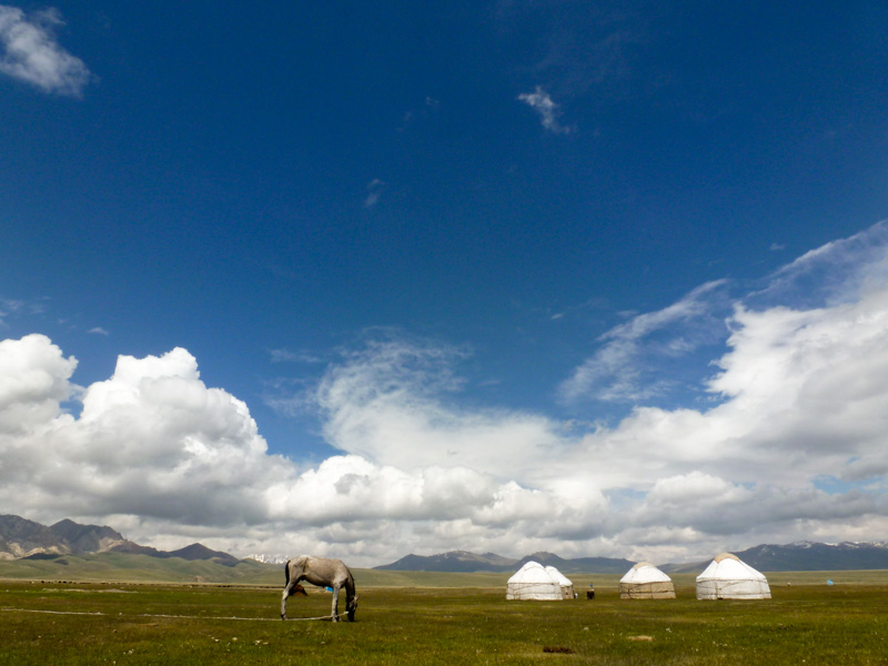 Kirghizistan song kul - via della seta