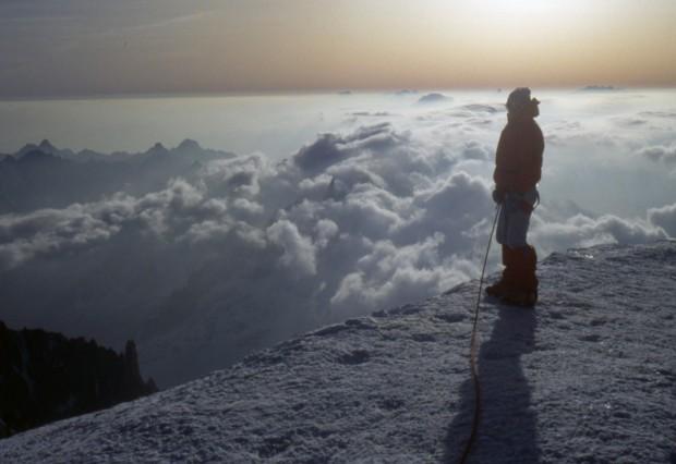 In vetta al Monte Bianco