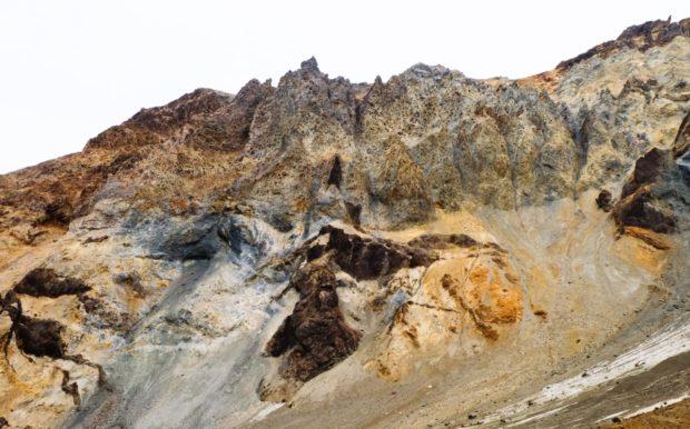 Mutnovsky rocce kamchatka