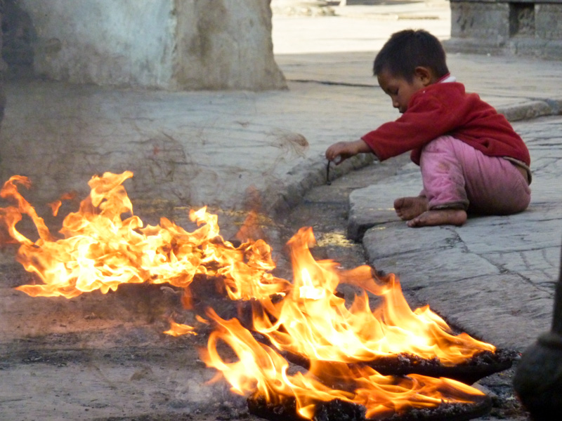 Nepal fuoco