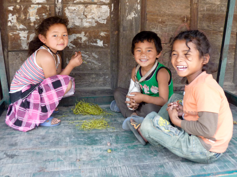 Nepal bambini
