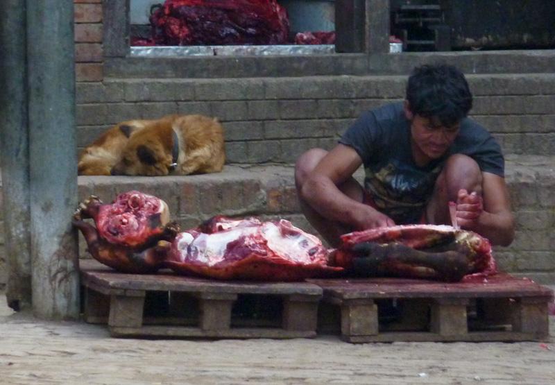 Nepal macellaio