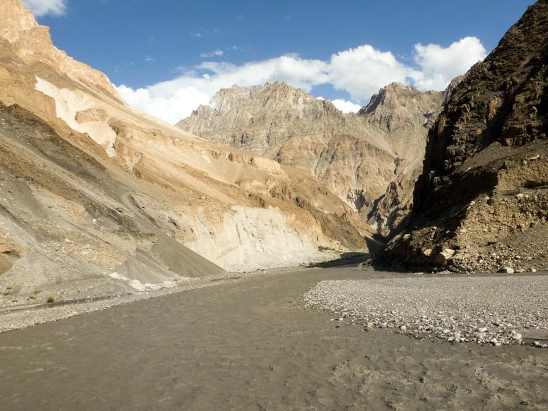 Pakistan strada valle Shimshal