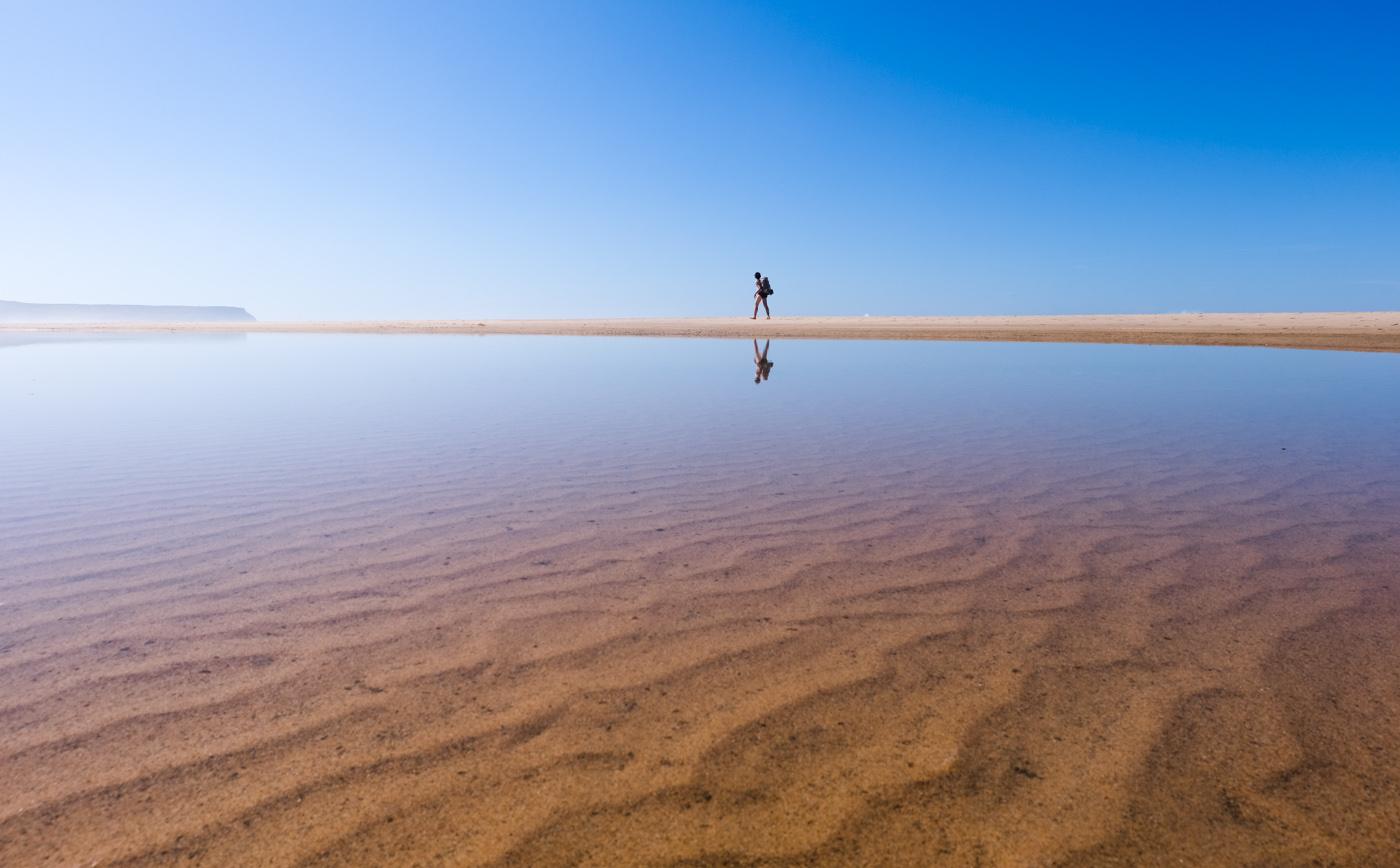 Rota Vicentina cammino a piedi Portogallo sentiero dei pescatori acqua