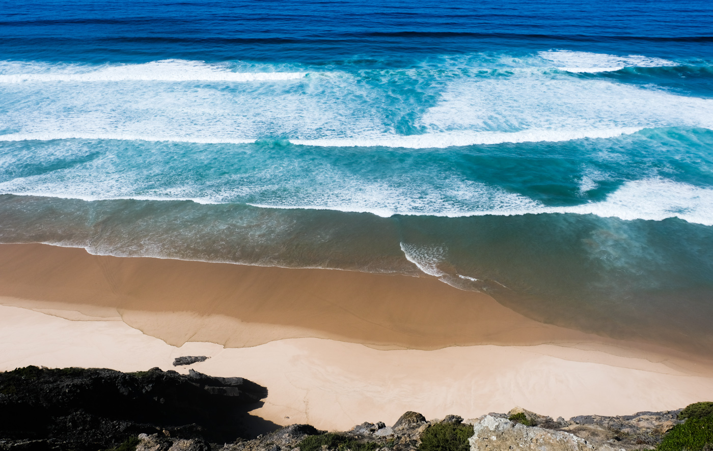 Rota Vicentina cammino a piedi Portogallo sentiero dei pescatori bandiera