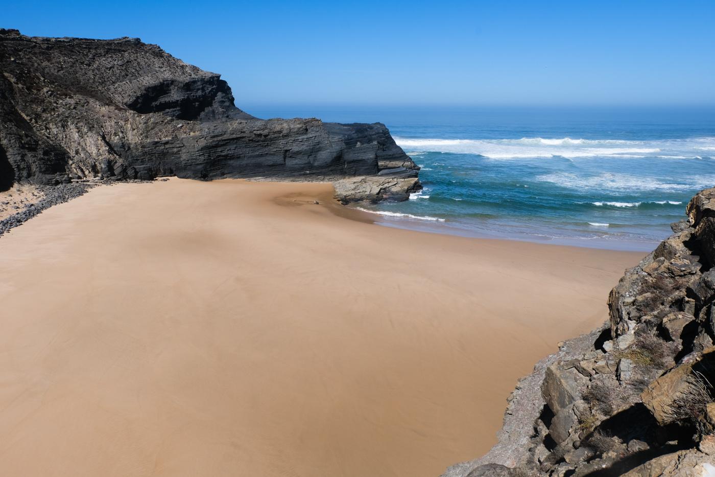 Rota Vicentina cammino a piedi Portogallo sentiero dei pescatori mare