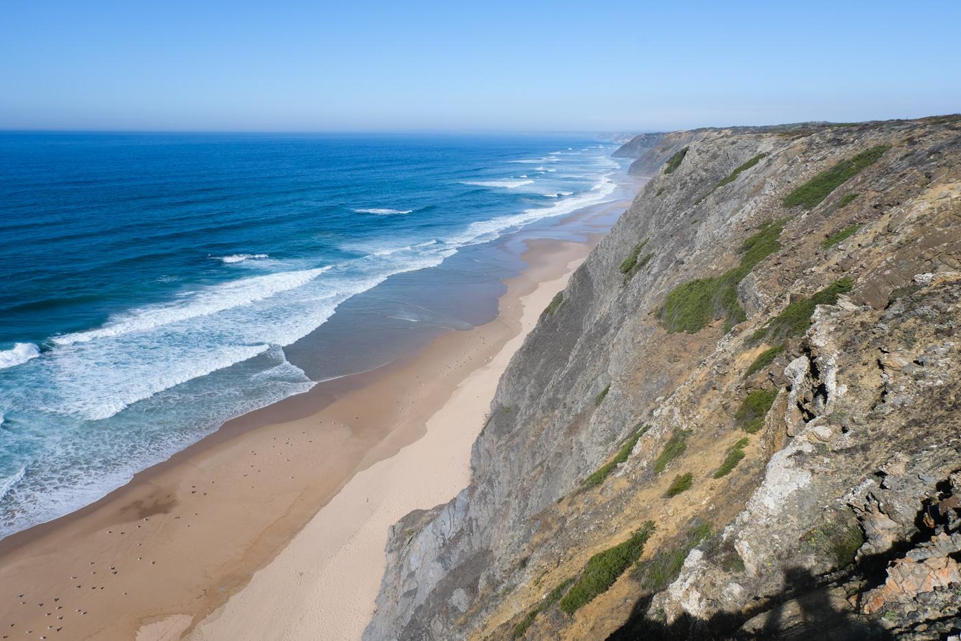 Rota Vicentina cammino a piedi Portogallo sentiero dei pescatori onde