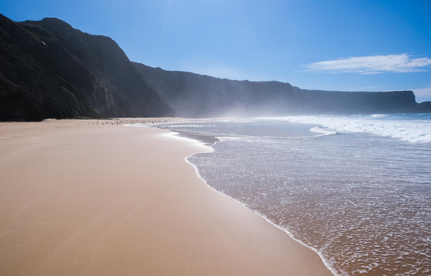 Rota Vicentina cammino a piedi Portogallo sentiero dei pescatori orizzonte