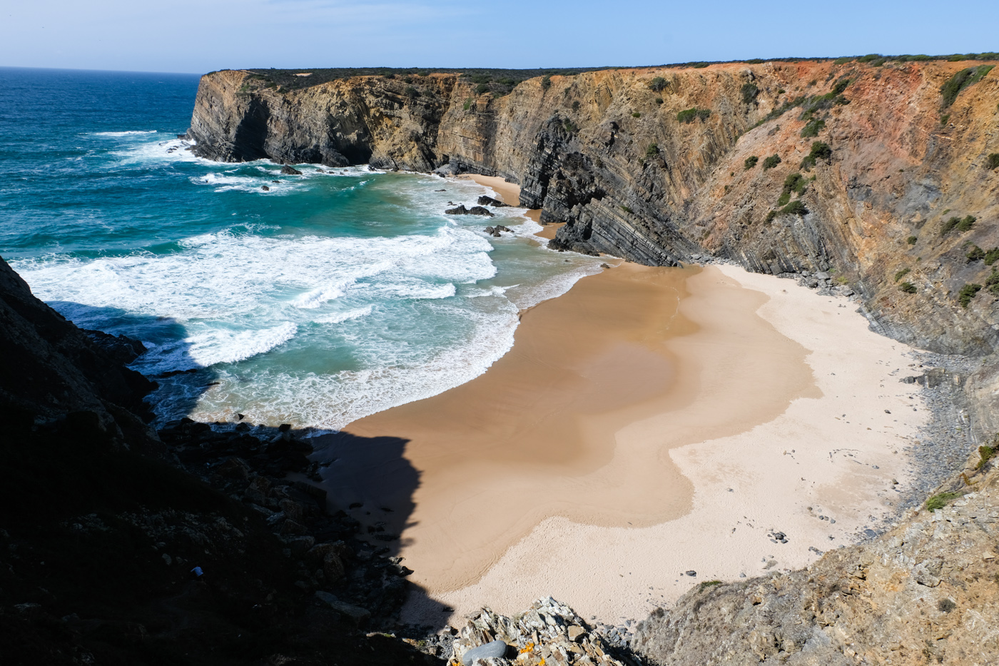 Rota Vicentina cammino a piedi Portogallo sentiero dei pescatori panorama
