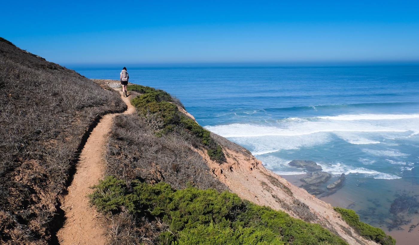 Rota Vicentina cammino a piedi Portogallo sentiero dei pescatori sentiero mare