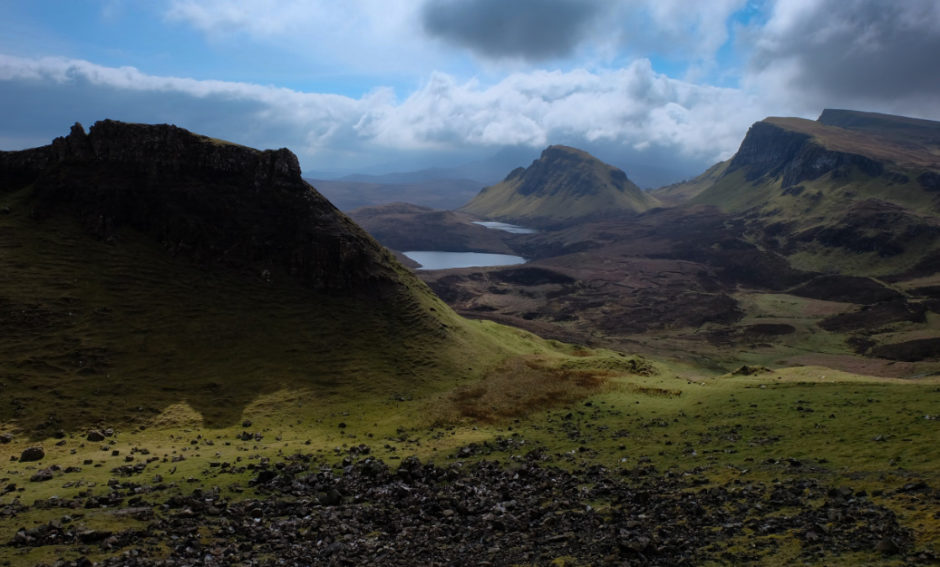 Scozia isola di skye montagne