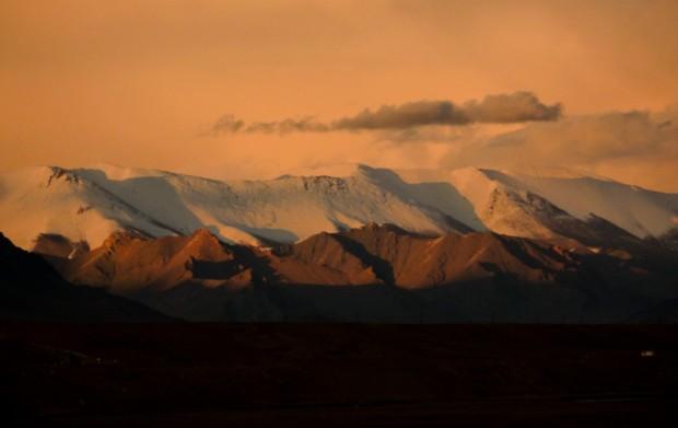 Tagikistan tramonto