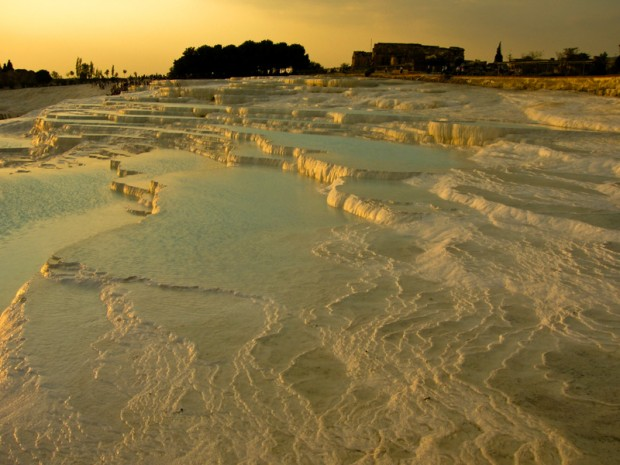 Vasche di travertino pamukkale