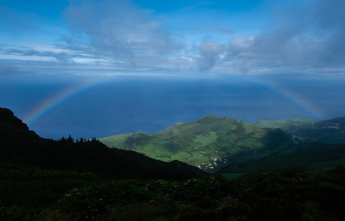 Viaggio a Flores e Corvo isole Azzorre arcobaleno
