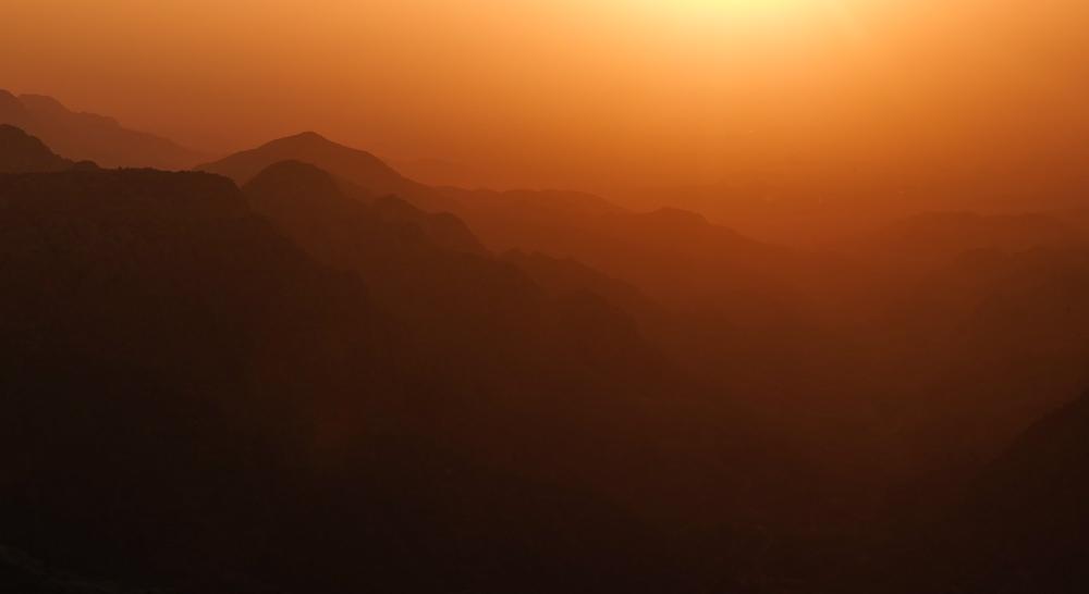 Viaggio in Giordania racconto dana tramonto