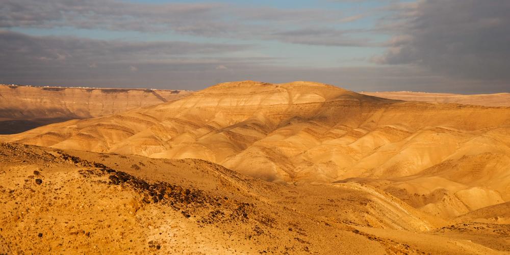 Viaggio in Giordania racconto panorama montagne tramonto