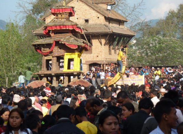 bhaktapur capodanno folla
