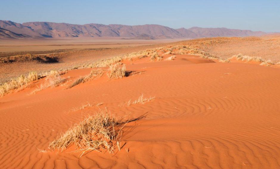 biospere reserve namibia tramonto dune
