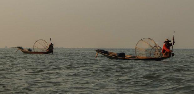 birmania lago inle pescatori