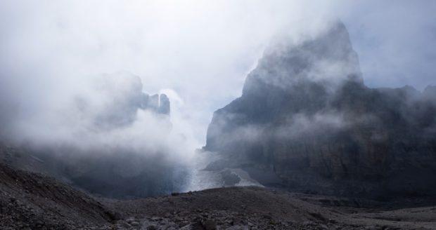 bocchette centrali nebbia dolomiti
