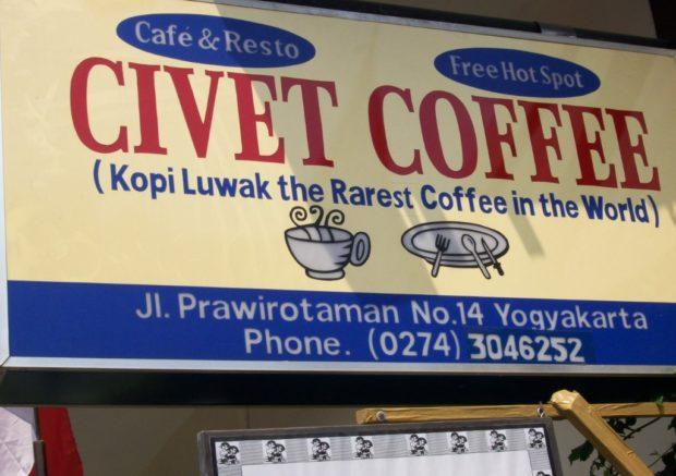 caffè zibetto indonesia