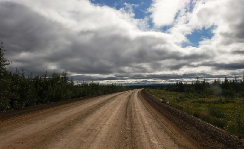 canada territori del nord ovest dempster highway cielo