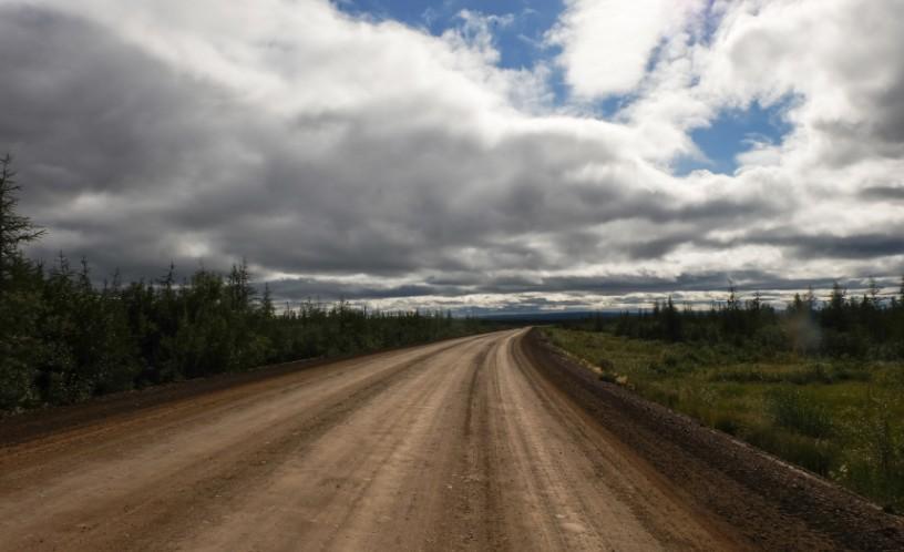 canada territori del nord ovest dempster highway cielo