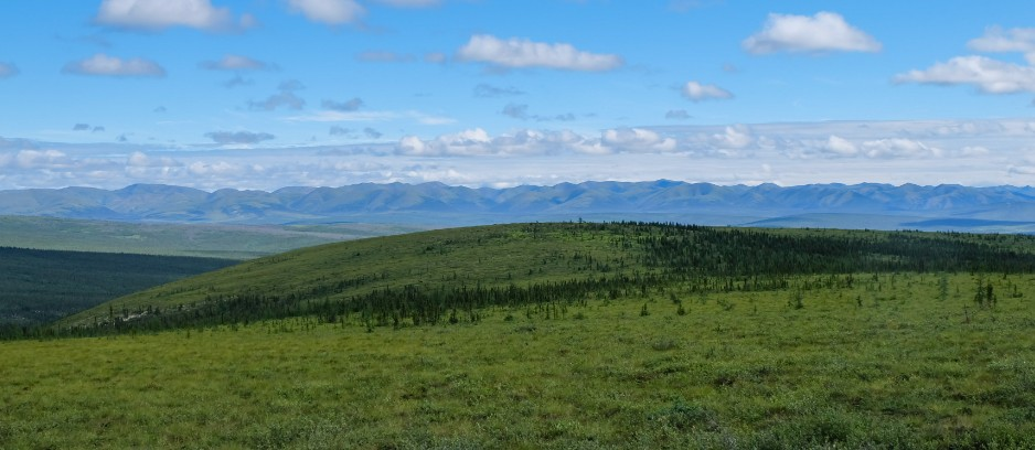 canada territori del nord ovest dempster highway panorama