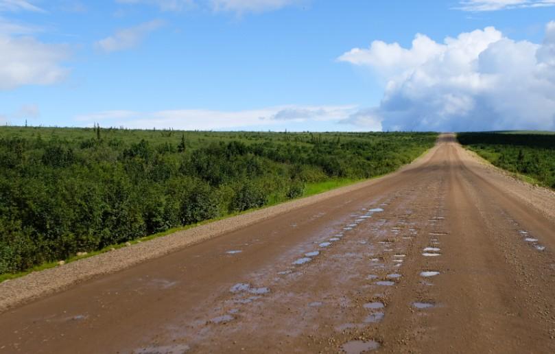 canada territori del nord ovest dempster highway strada