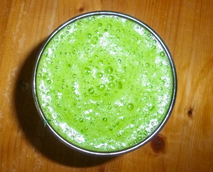 estratto di verdure verde