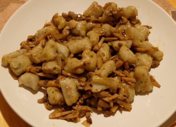 Ricetta gnocchi melanzane e patate ai funghi