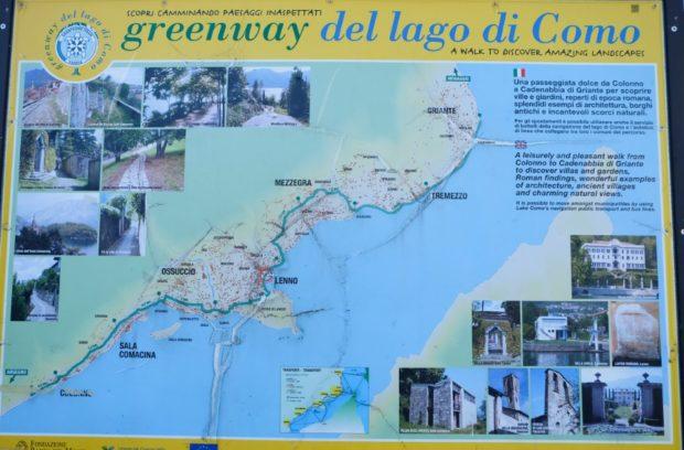 green way lago di como mappa