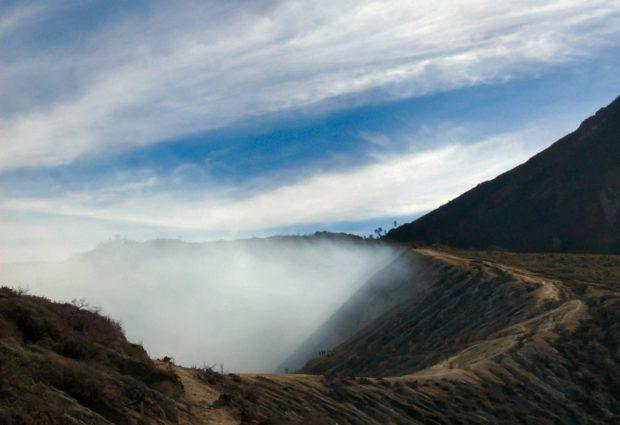 ijen vulcano cratere indonesia