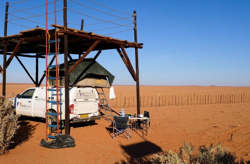 itinerario viaggio namibia auto a noleggio campeggio