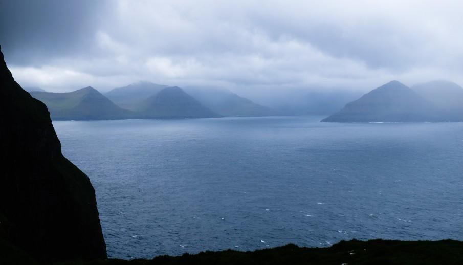 kallur panorama faro isole faroe kalsoy