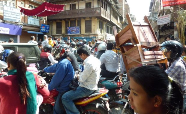 kathmandu traffico