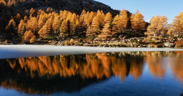 lago arpy autunno