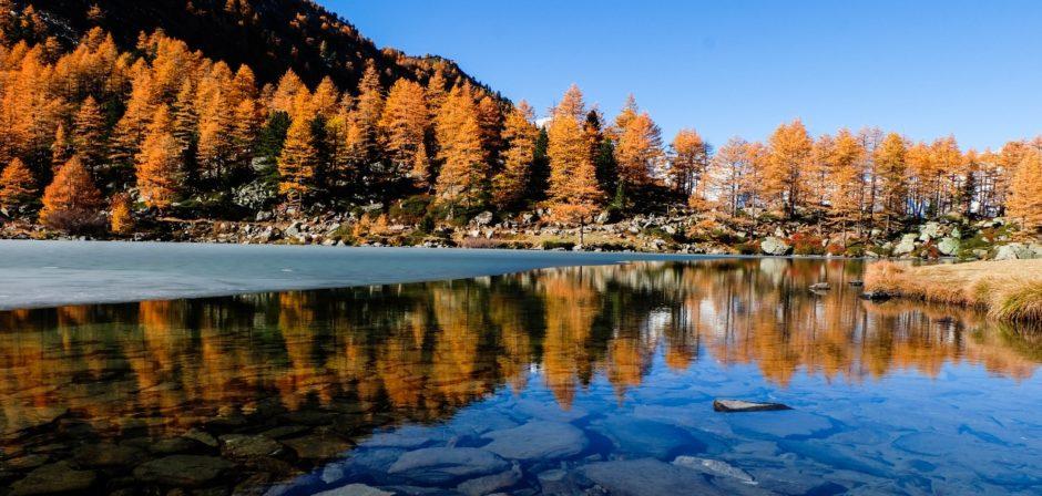 lago arpy autunno valle aosta