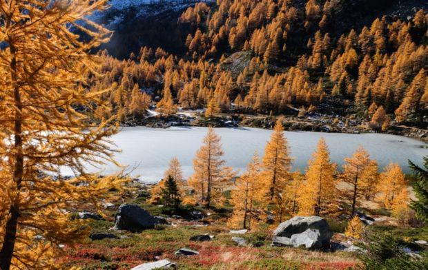 lago arpy valle aosta autunno