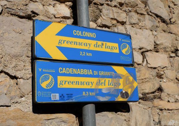lago di como green way cartelli