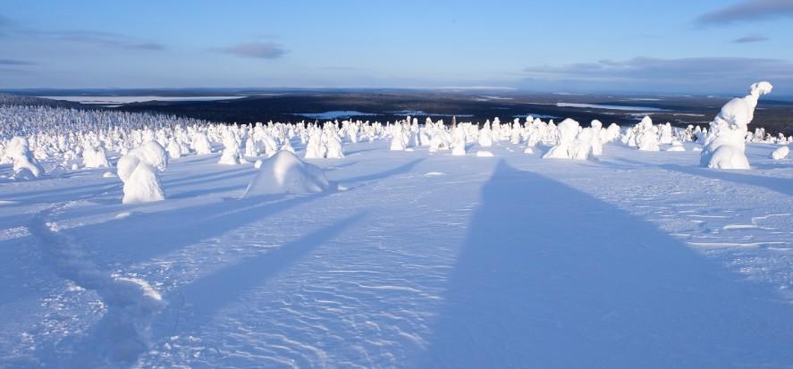 lapponia in inverno panorama stunturi