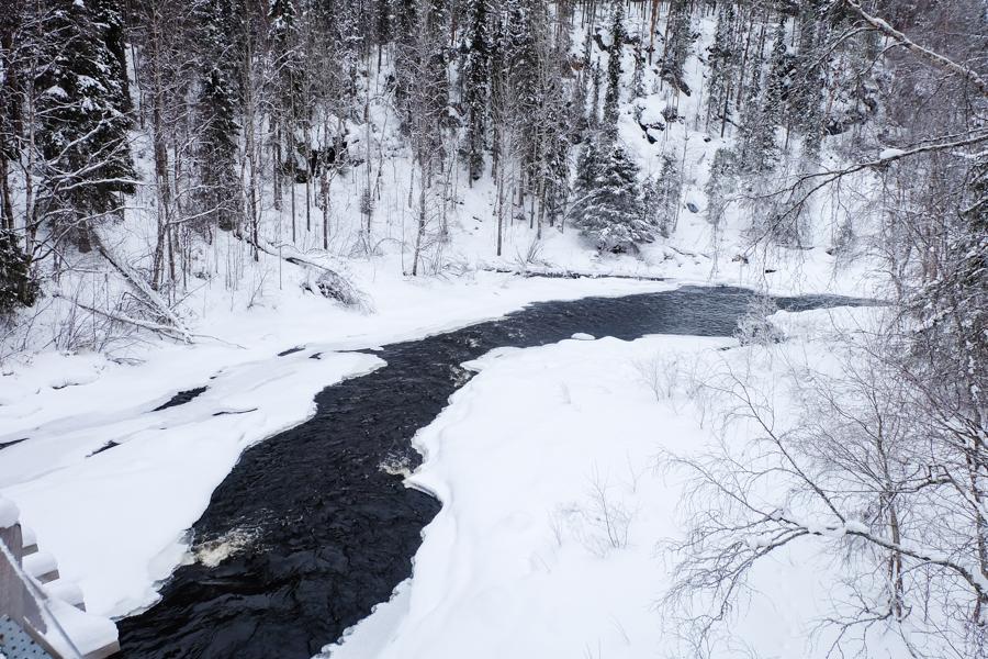 lapponia inverno oulanka fiume