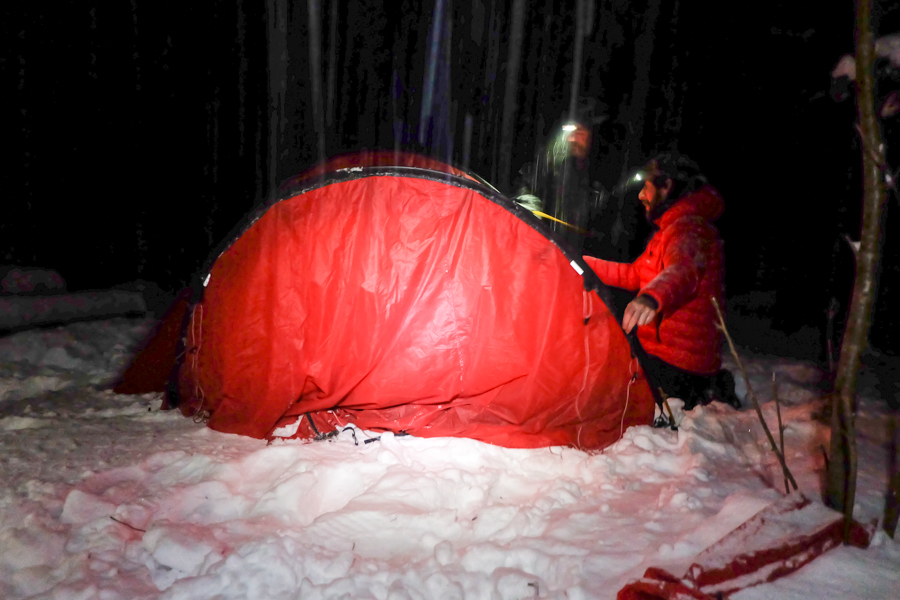 lapponia inverno oulanka tenda