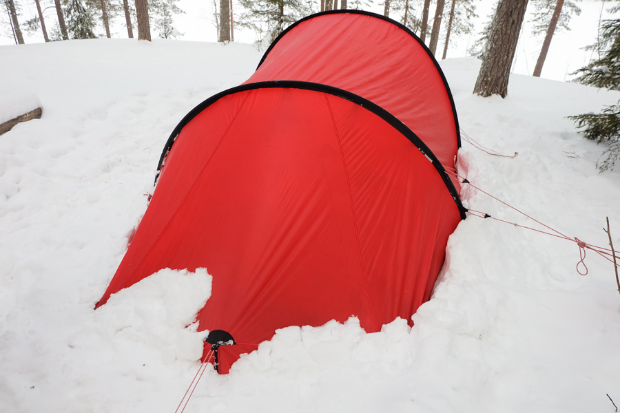 lapponia inverno oulanka tenda rossa