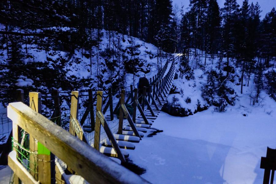 lapponia inverno oulanka ponte