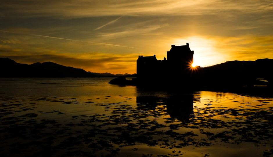 leggende della scozia castello eilean donan - libri di viaggio grande nord